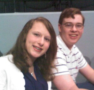 Emma and Johnathan McCravy at a taping of the Sean Hannity Show.
