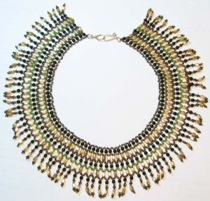 Emma wore this Egyptian collar that I made when she performed her Shane Company Commercial.