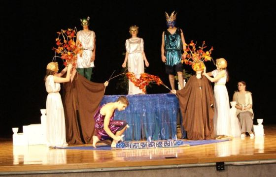 Jackson County Comprehensive High School's Drama Department put on the play Metamorphosis by Mary Zimmerman Emma's freshman year.