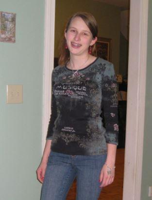 Emm's old lady shirt.  Emma Roey, Emma Kate Roey, Emma Katherine Roey