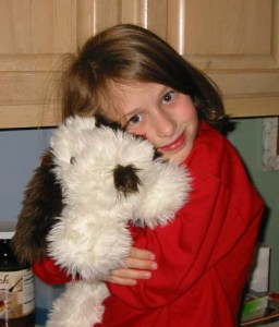 When Emma attended George Walton Academy, she was in a Brownie troop, and I was there at every meeting, helping out.  The girls used some of their cookie money on a trip to Build-A-Bear, and Emma got this little dog.  Emma Roey, Emma Katherine Roey, Emma Kate Roey