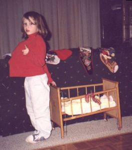 A pregnant little Emma, getting ready to deliver her baby.  Emma Roey, Emma Katherine Roey, Emma Kate Roey